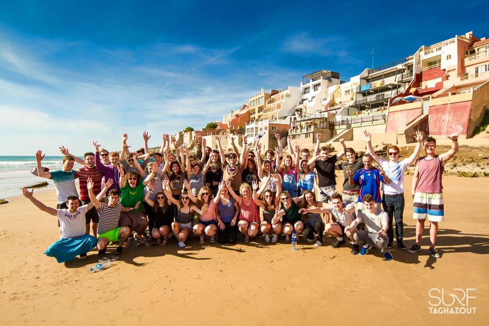university group surf holiday